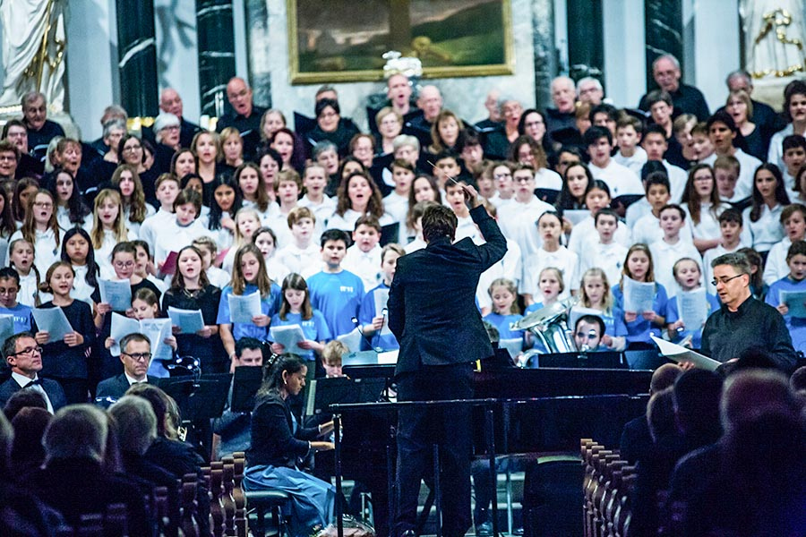 big concert with students