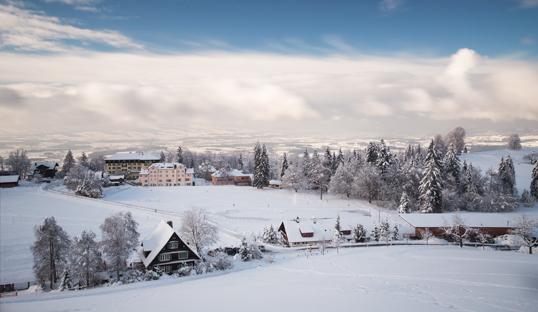 a snowcovered zugerberg